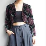 velvet flower short jacket