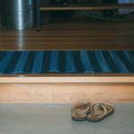 Cotton Indigo Rug - Border 60×90cm
