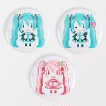【YUtuKI/明晰夢】ドット絵ミク缶バッジ (全3種類)