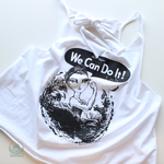 [Ballet Papier] Tie Back Top 'We Can Do It!'