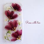 iPhone6/6s用 フラワーアートケース 押し花デザイン 0605_1
