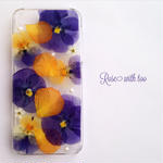 iPhone5/5s/SE用 フラワーアートケース 押し花デザイン 0519_4
