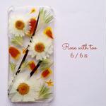 iPhone6/6s用 フラワーアートケース 押し花デザイン 0612_4