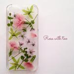 iPhone5/5s/SE用 フラワーアートケース 押し花デザイン 0529_6