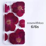 iPhone7/6/5/SE用 フラワーアートケース 押し花デザイン 0907_2