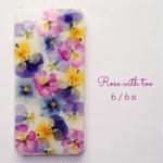 iPhone6/6s用 フラワーアートケース 押し花デザイン 0612_2