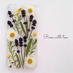 iPhone6/6s フラワーアートケース 押し花デザイン 06126_6
