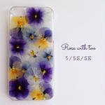 iPhone5/5s/SE用 フラワーアートケース 押し花デザイン 0605_4