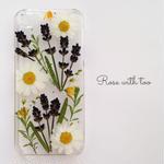 iPhone5/5S/SE フラワーアートケース 押し花デザイン 0626_7