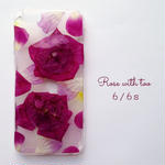 iPhone6/6s用 フラワーアートケース 押し花デザイン 0612_3