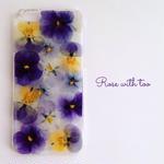 iPhone6/6s用 フラワーアートケース 押し花デザイン 0605_4