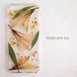iPhone6/6s用 フラワーアートケース 押し花デザイン 0510_5