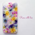 iPhone5/5s/SE用 フラワーアートケース 押し花デザイン 0612_5