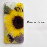 【再販アレンジ】iPhone7/6用 押し花デザイン 0715_1