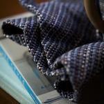 手織り あずま袋 ネイビー