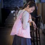 手織りあずま袋 ピンク