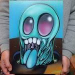 【原画】Monster Canvas 2016 : SKY BLUE SLIME