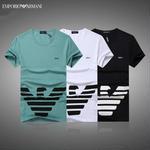 人気アルマーニ エンポリオ  Emporio Armani プリント半袖Tシャツ EA7  丸首 メンズ