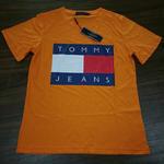 人気 tommy hilfiger トミーTシャツ 半袖  男女兼用   オレンジ