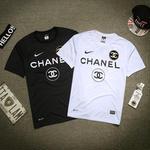 人気新品 ナイキ×シャネル 高品質コラボTシャツ 半袖スウェット 人気新品 男女兼用