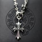 人気CHROME HEARTS クロムハーツ ネックレス  シルバー ダイヤモンドペンダント 十字架 65/70CM  男女兼用