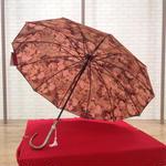 傘専門店  通販  東京  雨傘  ワンタッチ  ジャンプ  グラスファイバー  サビない  旅傘  【柄が浮き出る  リバーシブル】