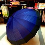 傘専門店  通販  東京  雨傘  ワンタッチ  ジャンプ  グラスファイバー  サビない  旅傘  【16本骨 和風ツートン  胡麻  】