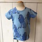 【mini rodini】 LION BLUE Tシャツ