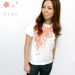 hw001tee - さくら Tシャツ- BPGT -G-( 桜 サクラ 桜吹雪 和柄 花柄 オリジナルTシャツ 半袖 )