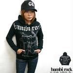☆特別プライス☆ hw005pk - bambi rock フーデット ライトパーカー -G- ロック スウェット バンド
