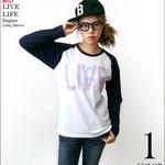 sp081rglt - LIVE LIFE ラグランロングスリーブ -G- ロック ライブ フェス バンド アメカジ ロンT 長袖