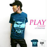 a04-t - PLAY Tシャツ - LPR -G-( ROCK ロック ミュージック 音楽 オリジナル 半袖Tee )