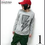 sp048lt - イナズマ ロングスリーブ Tシャツ - BPGT -G-( ロンT 長袖 ロック 稲妻 雷柄 ロゴ オリジナル )