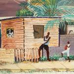 ジャマイカ ペイント ゲットー ERIC CAMPBEL(ジャマイカ絵画)