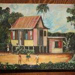 ジャマイカ ペイント 田舎 家族 子供 D.L MILIA(ジャマイカ絵画)