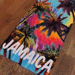 夏本番!特価!ジャマイカ特大バスタオル  ヤシの木 JAMAICA