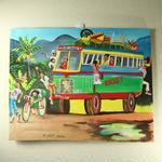 特大ジャマイカ ペイント A.Stephenson 有名レゲエバス(ジャマイカ絵画)