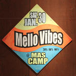 ジャマイカイベントサイン(イベント告知ボード)MELLOW VIBES@MASCAMP