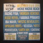 ジャマイカイベントサイン(イベント告知ボード)素晴らしいメンツ! WICKIE WACKIE MUSIC FESTIVAL!