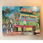ジャマイカ ペイント A.Stephenson 有名レゲエバス(ジャマイカ絵画)