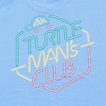 TURTLE MAN's CLUB T-SHIRTS [AQUA BLUE]