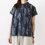 TUTIE. / ボタニカル柄 刺繍 フレンチスリーブ シャツ