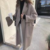 《即納》【EruMon】ウールブレンドオーバーシルエットコート ロングコート ゆったり