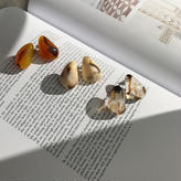 nuance marble pierce&earring (3color)