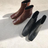 squaretoe eco leather shoes (2color)