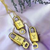 【Vintage Louis Vuitton】PADLOCK NACKLACE chain necklace