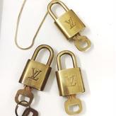 【Vintage Louis Vuitton】PADLOCK NACKLACE gold necklace