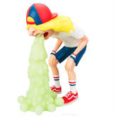 Mighty Jaxx Vomit Kid by okeh white Edition