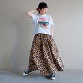 【予約終了】thomas magpie long skirt leopard