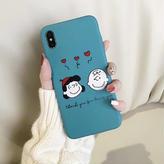 輸入雑貨 スヌーピー ケータイケース snoopy ケータイカバー  iphone XR ケース 最大種類 iphone 8 7 6 6 s-plus チャーリーサリー ブルー